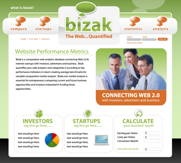 Bizak Original Web Design