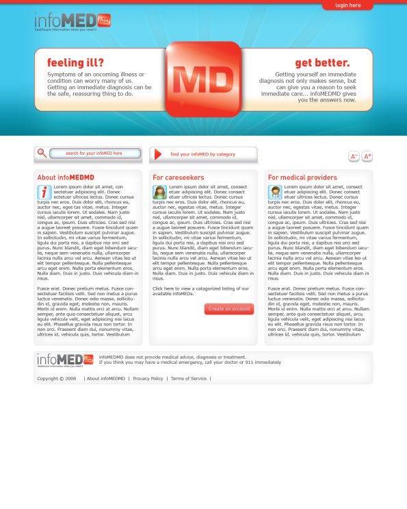 infoMedMD Original Web Design