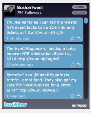 BostonTweet Widget Code